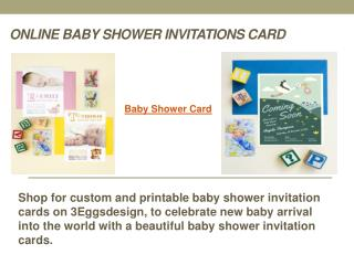Online Baby Shower Invitations Card