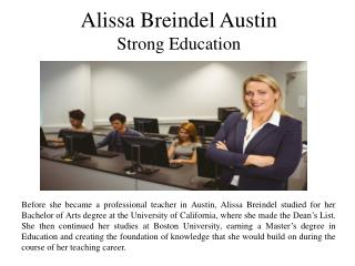 Alissa Breindel Austin - Strong Education