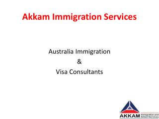 Australia Immigration Consultants in Bangalore