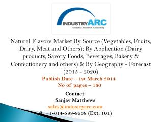 Global Natural Flavors Market draws a good deal of market share from the packaged food industry.