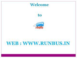 Book Volvo Bus Tickets Online India runBus in