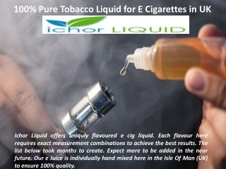 Nicotine Free E Cigarettes Liquid in UK Market Place