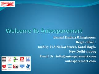 Online Auto Spare Parts | Scooter Parts | Brake Pad Price in Delhi - Autosparemart.com