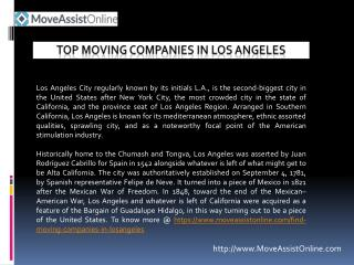 Searching for Top Moving Companies in Los Angeles, California?