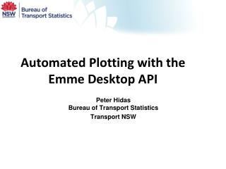 Automated Plotting with the Emme  Desktop  API