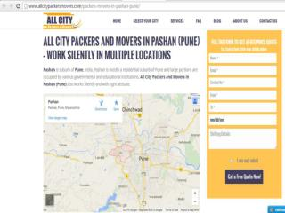 Packers and Movers in Pashan (Pune) - All City Packers and Movers®