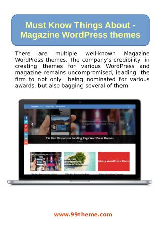 Must Know Things About Magazine WordPress Themes