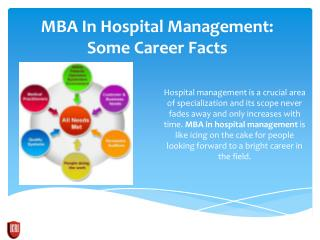 MBA In Hospital Management For Career Prospective