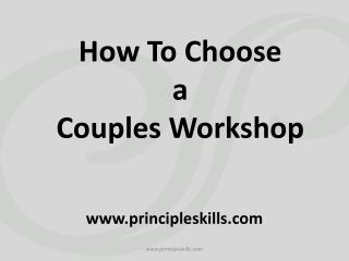 How to Choose Couples Workshop