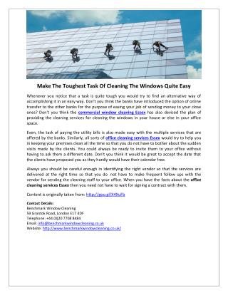 Make The Toughest Task Of Cleaning The Windows Quite Easy