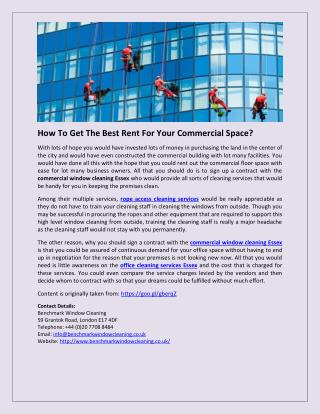 How To Get The Best Rent For Your Commercial Space?