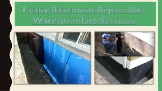 Basement Waterproofing Services Hamilton - Leaky Basement Repair, Wet, And Floor Cracks