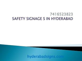 Safety Signages Hyderabad