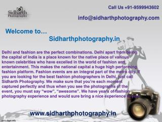 Sidharth Photography- A Leading Wedding Photographers in Delhi