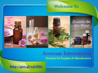 Products of Natural Essential oils at Aromaazinternational.com