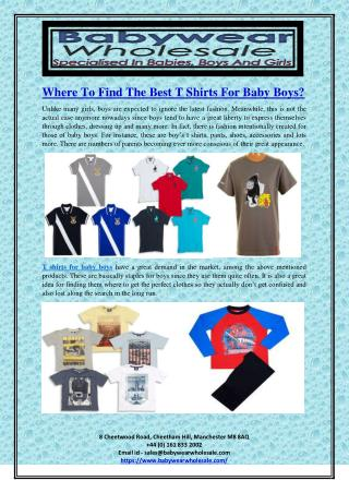 Where To Find The Best T Shirts For Baby Boys?