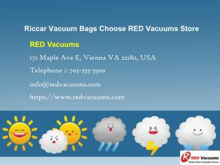 Riccar Vacuum Bags Choose RED Vacuums Store