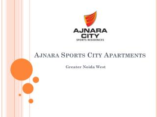 Ajnara Sports City Apartments – Flats in Greater Noida