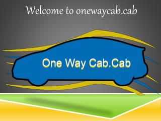 one Way Cab