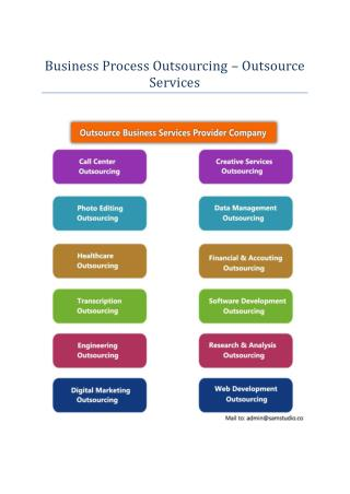 Business Process Outsourcing – Outsource Services