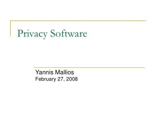 Privacy Software