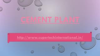 Cement Plants Machine manufacturers in india