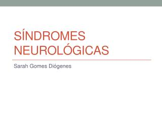 Sindromes neurologicas