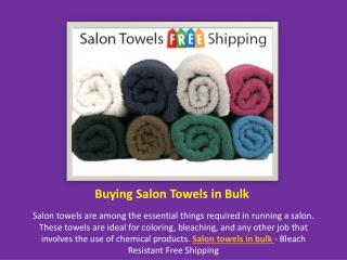 Buying Salon Towels in Bulk