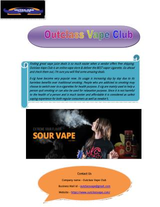 Find Best E Cig Online Store in USA
