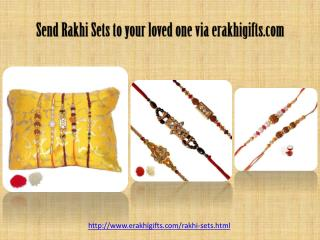 Send rakhi sets to your loved one Via erakhigifts.com