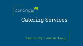 Asian Catering | Indian Wedding Services - Coriander Group