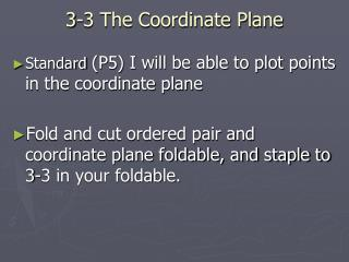 3-3 The Coordinate Plane