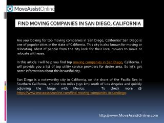 How To Find Top Moving Companies in San Diego, California?
