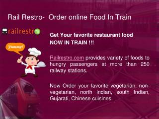 Rail Restro- Online Food Ordering in Train