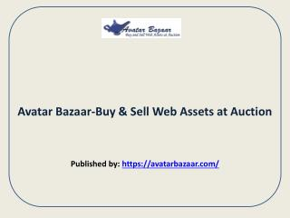 Buy & Sell Web Assets at Auction