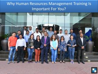 Why Human Resources Management Training Is Important For You?