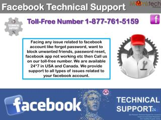 Ring on 1-877-761-5159 for facebook technical support