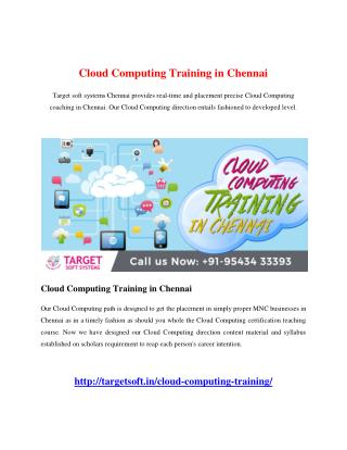 Cloud Computing Training in Chennai