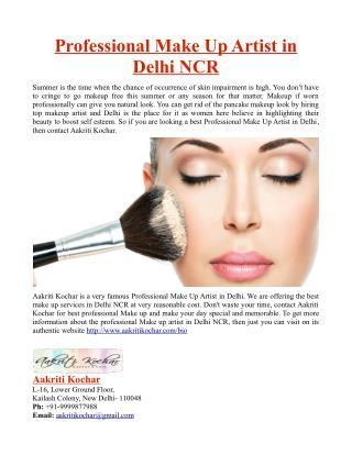 Professional Make Up Artist in Delhi NCR