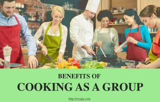 Cooking as a group helps build stronger teams