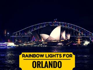 Rainbow lights for Orlando