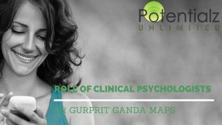Role of Clinical Psychologists
