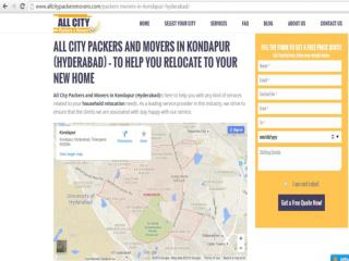 Packers and Movers in Kondapur (Hyderabad)-All City Packers and Movers®