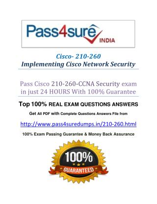 Pass4sure 210-260 Study Material