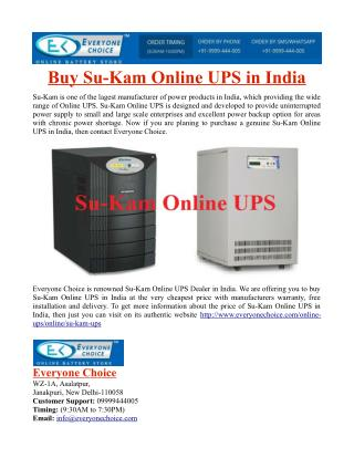 Buy Su-Kam Online UPS in India