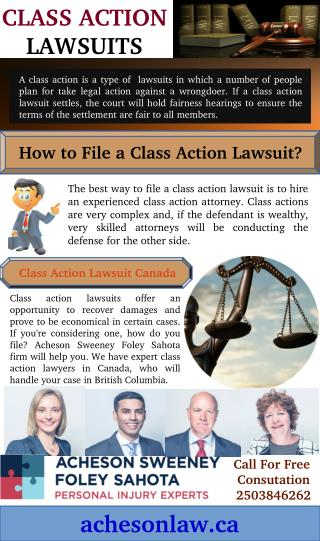 How to File Class Action Lawsuit in Canada