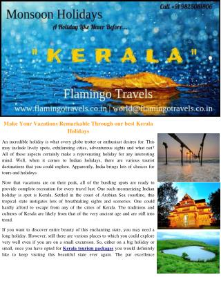 Get Worth and Quality Kerala Holiday Packages From Ahmedabad