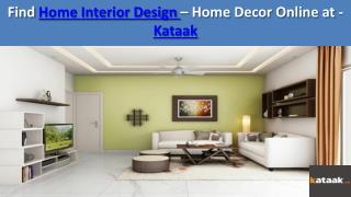 Online Interior Designer for Home Decor and Furniture