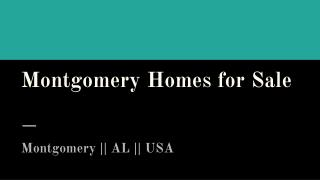 Best Montgomery Homes for Sale