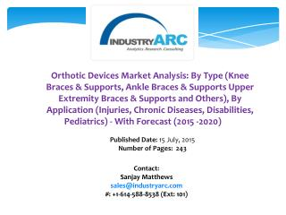 Orthotic Devices Market: high applications for as supporting equipment and for chronic diseases